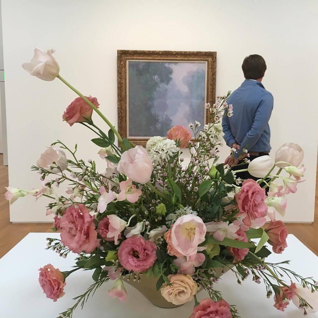 Katharine Bayer On Twitter Nc Art In Bloom Monet Flowers