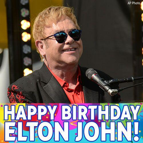 Happy Birthday to Grammy-winning musician Elton John! We hope you can feel the birthday love today!