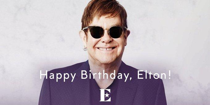 Wishing Sir Elton  John a very happy 71st Birthday. God Bless.