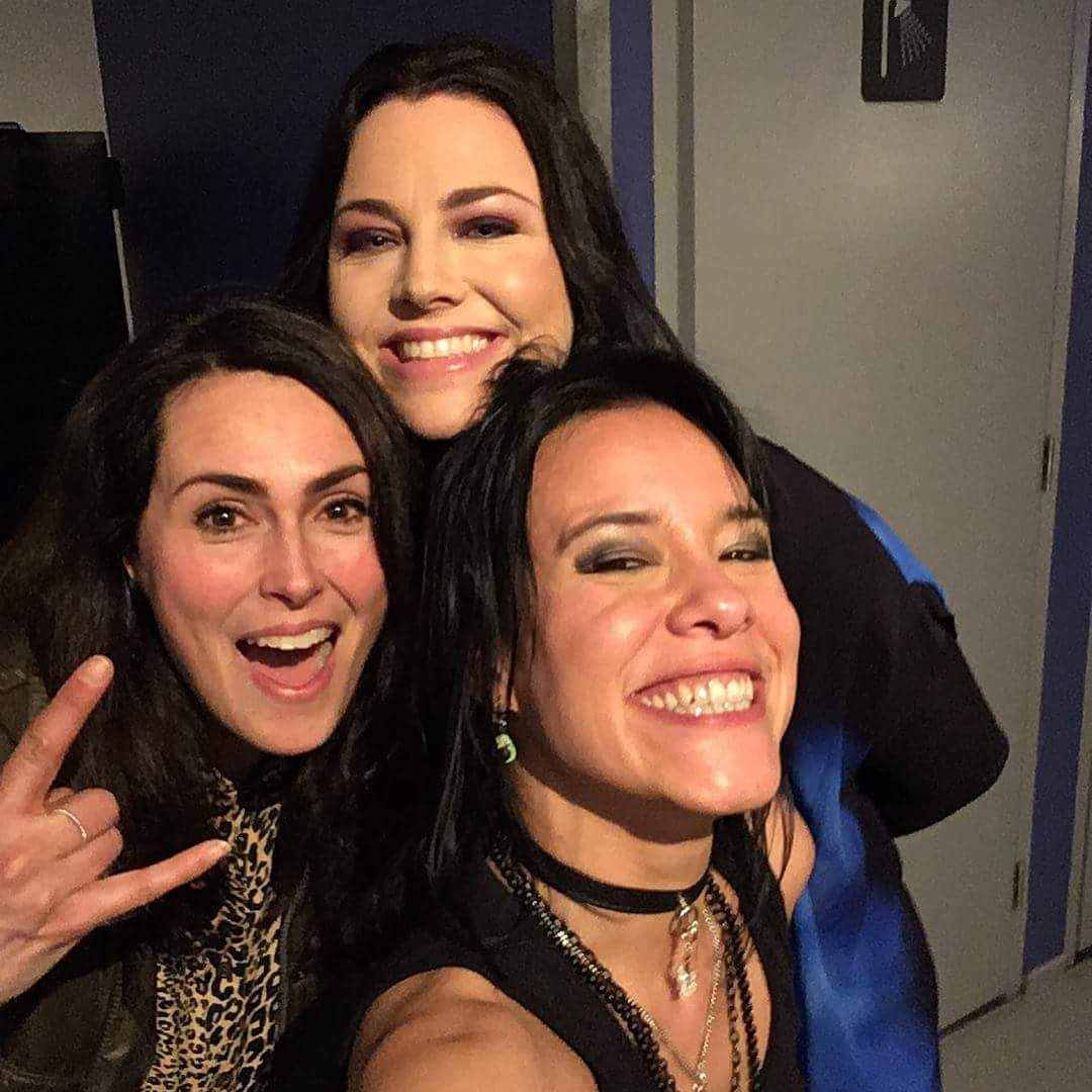 Amy Amp Jen With Sharon Den Adel From Symphonic Rock Group