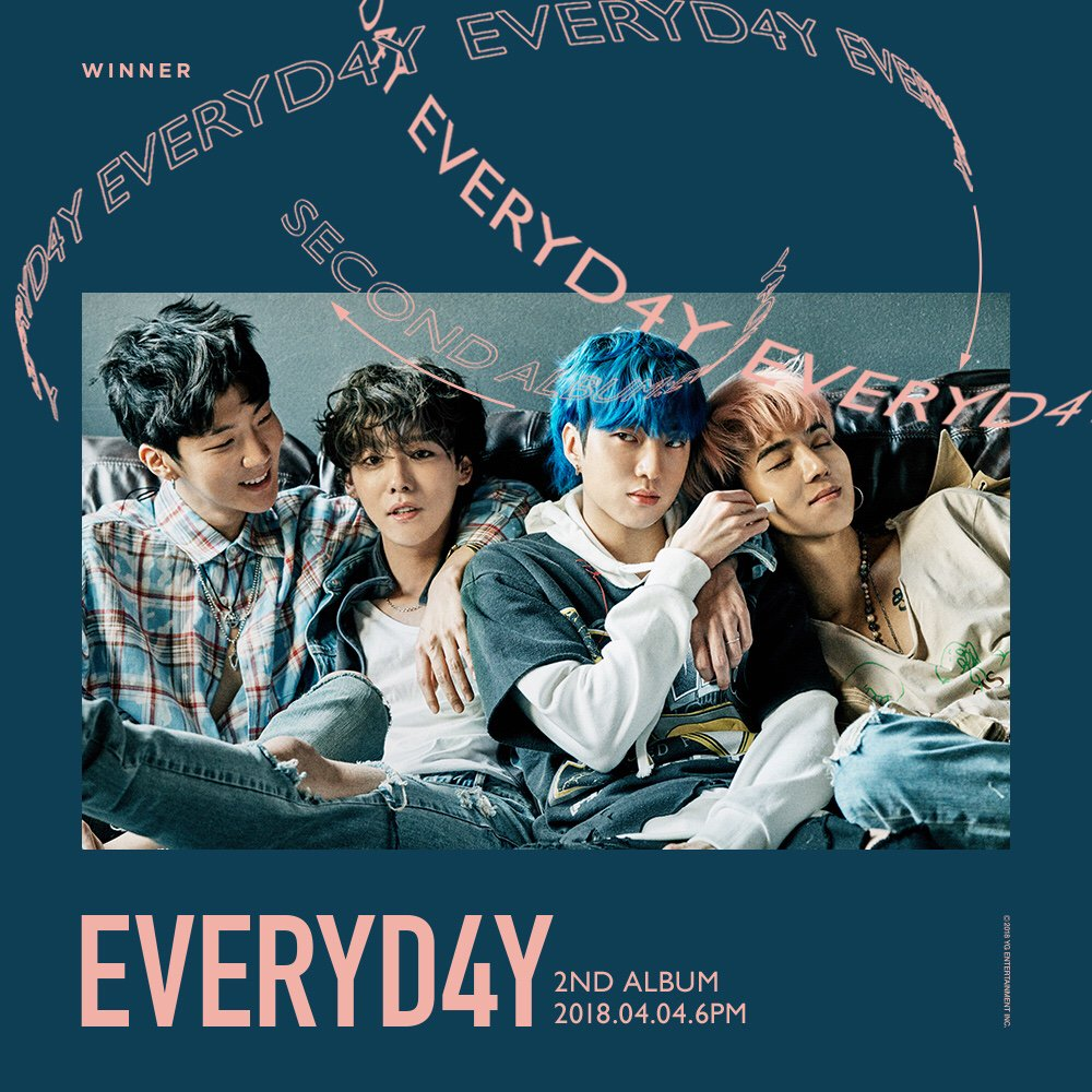 #WINNER 2nd ALBUM '#EVERYD4Y' COMING SOON  The 2nd Album Release 'D-9' ➡️ 2018. 04. 04 6PM(KST)  #위너 #20180404_6PM