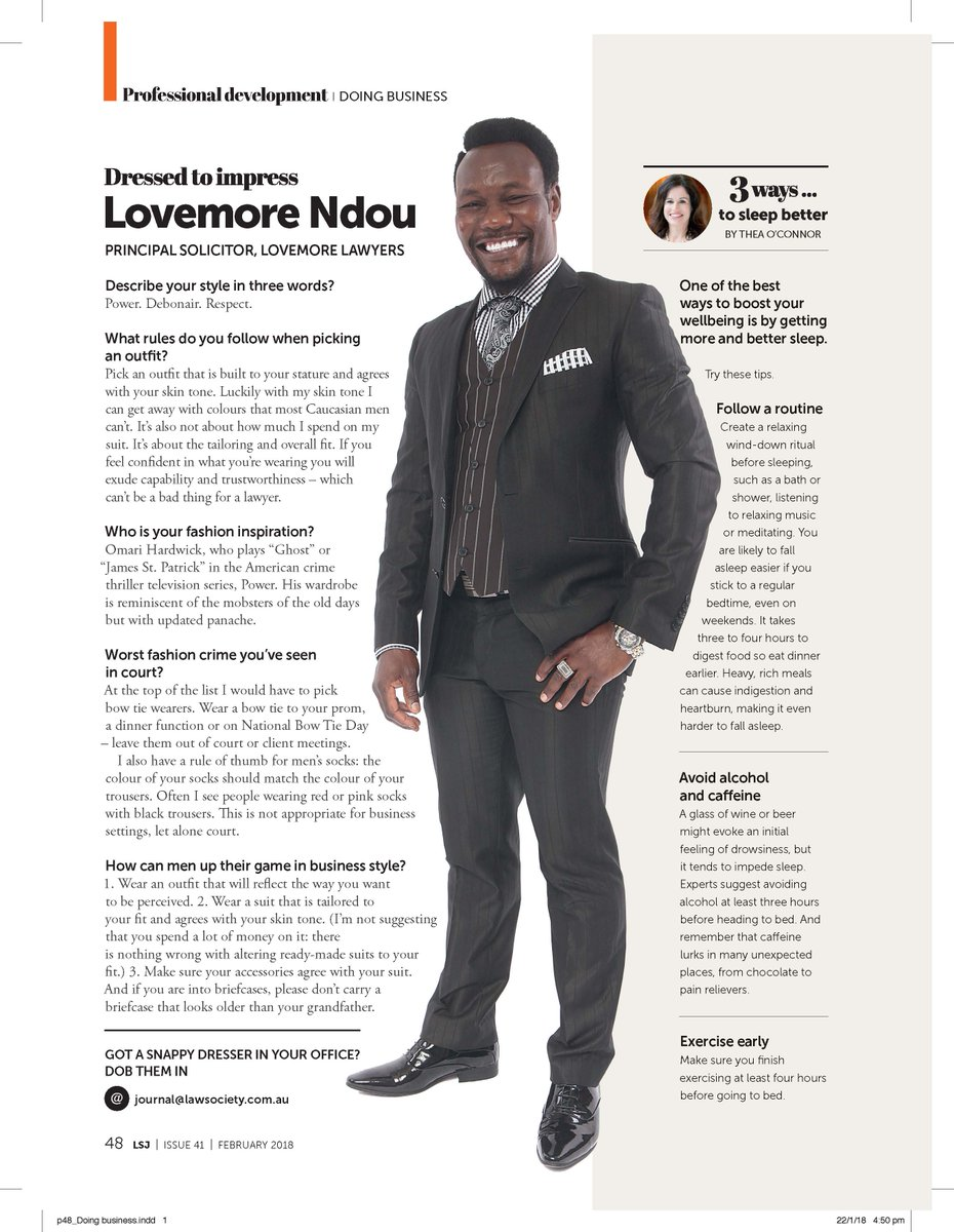 83a61e4b049a1 See our February edition featuring the very chic @LovemoreNdou The page was  inspired by lawyers writing to tell us that professional dressing standards  had ...