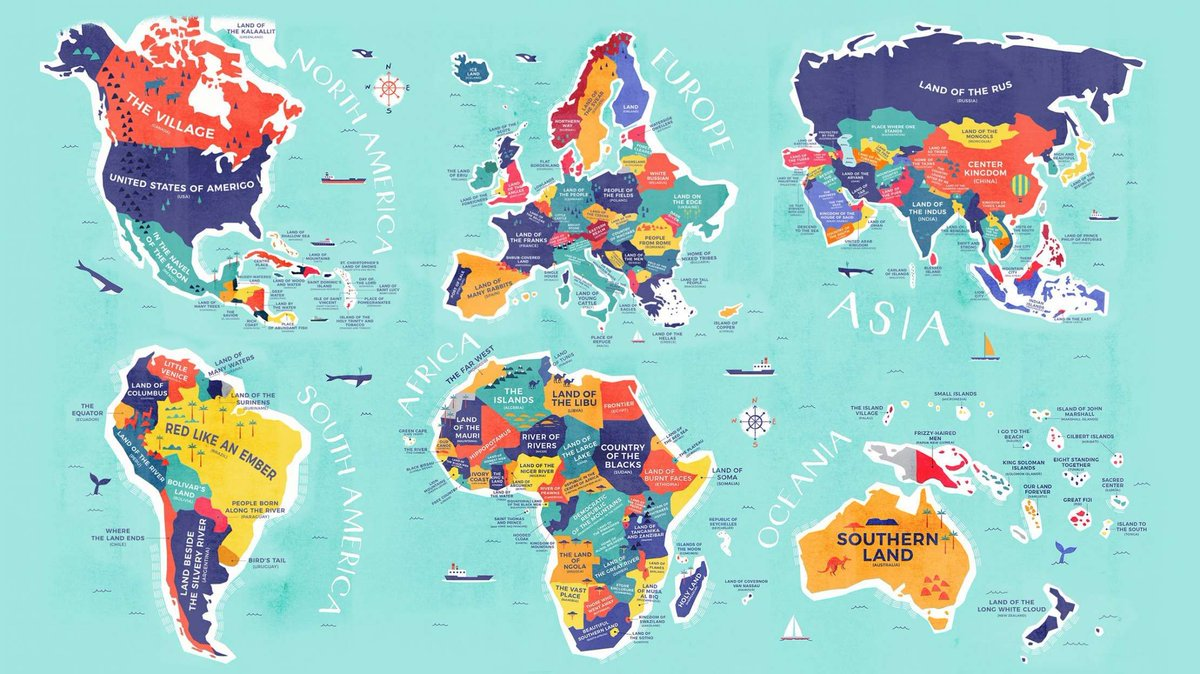 Gengo on twitter learn the etymology of countries around the world world to get fascinating insight into the origins of favorite travel destinations and the people who first lived there with this cool world map gumiabroncs Image collections