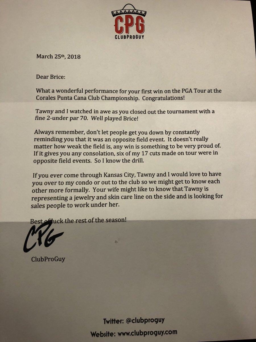 Club pro guy on twitter now that arnie is no longer with us i club pro guy on twitter now that arnie is no longer with us i have taken it upon myself to write congratulatory letters to first time pga winners expocarfo Gallery