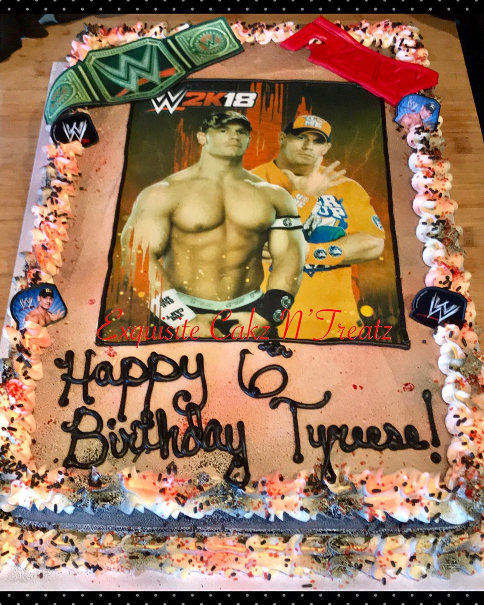 Fabulous Ebony Chatman On Twitter Wwe John Cena Cake Personalised Birthday Cards Beptaeletsinfo