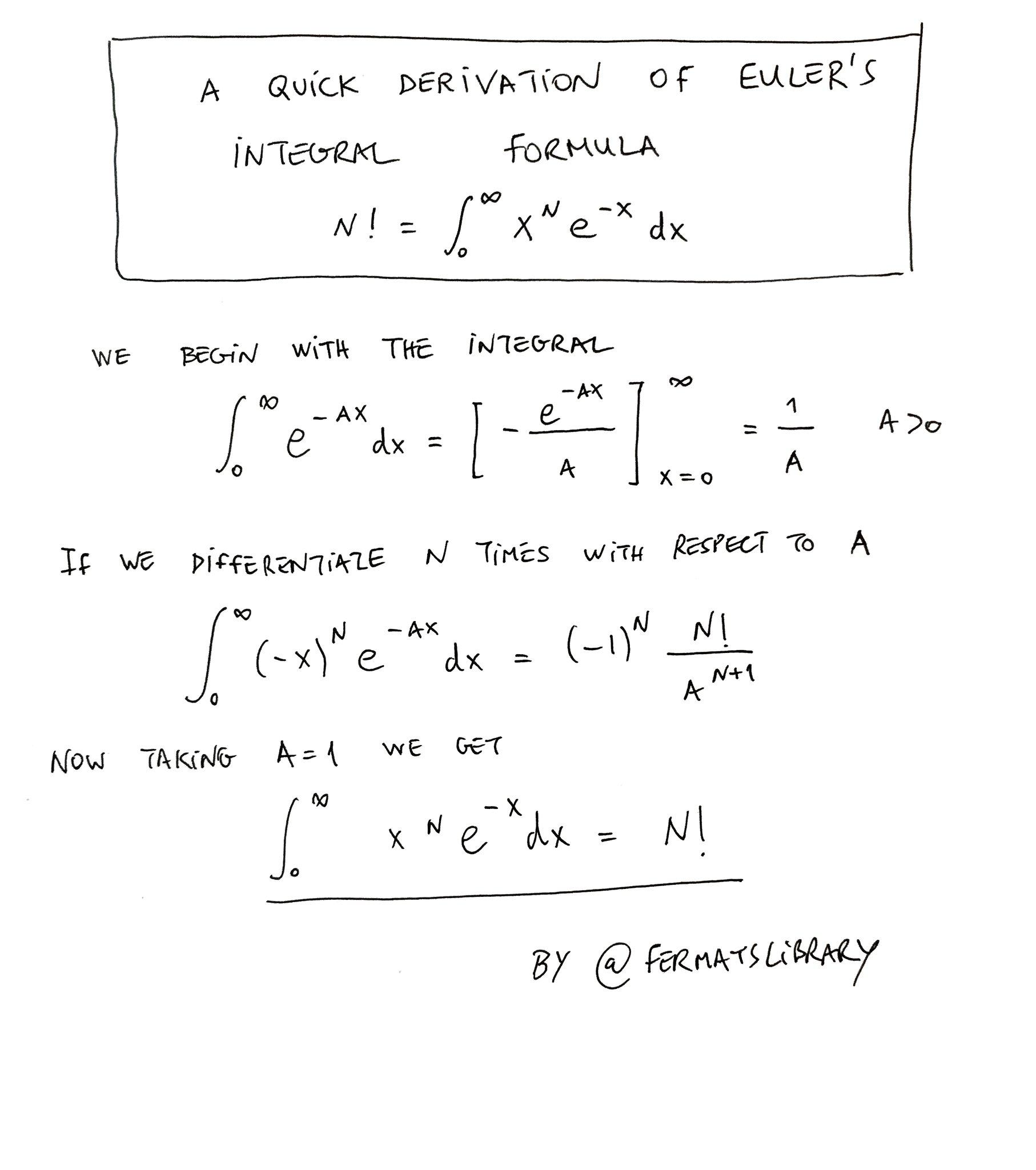 """Termeh Kousha on Twitter: """"Euler's integral formula! This ..."""