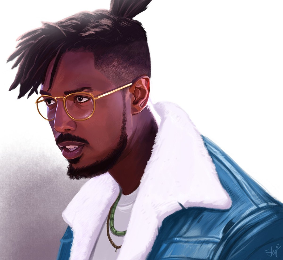 From sketch to completion! #Killmonger #BlackPanther #Marvel