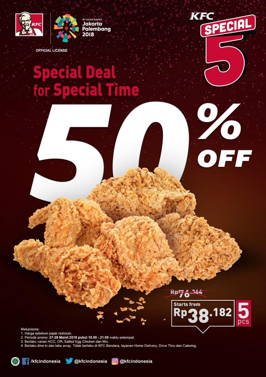 Kfc Jagonya Ayam On Twitter Special 5 Special Deal For Special Time Mari Rayakan Momen Spesial Kalian Bersama Kfc Dengan Diskon 50 Setiap Pembelian 5 Potong Ayam Kfc Coba Dong Share Momen