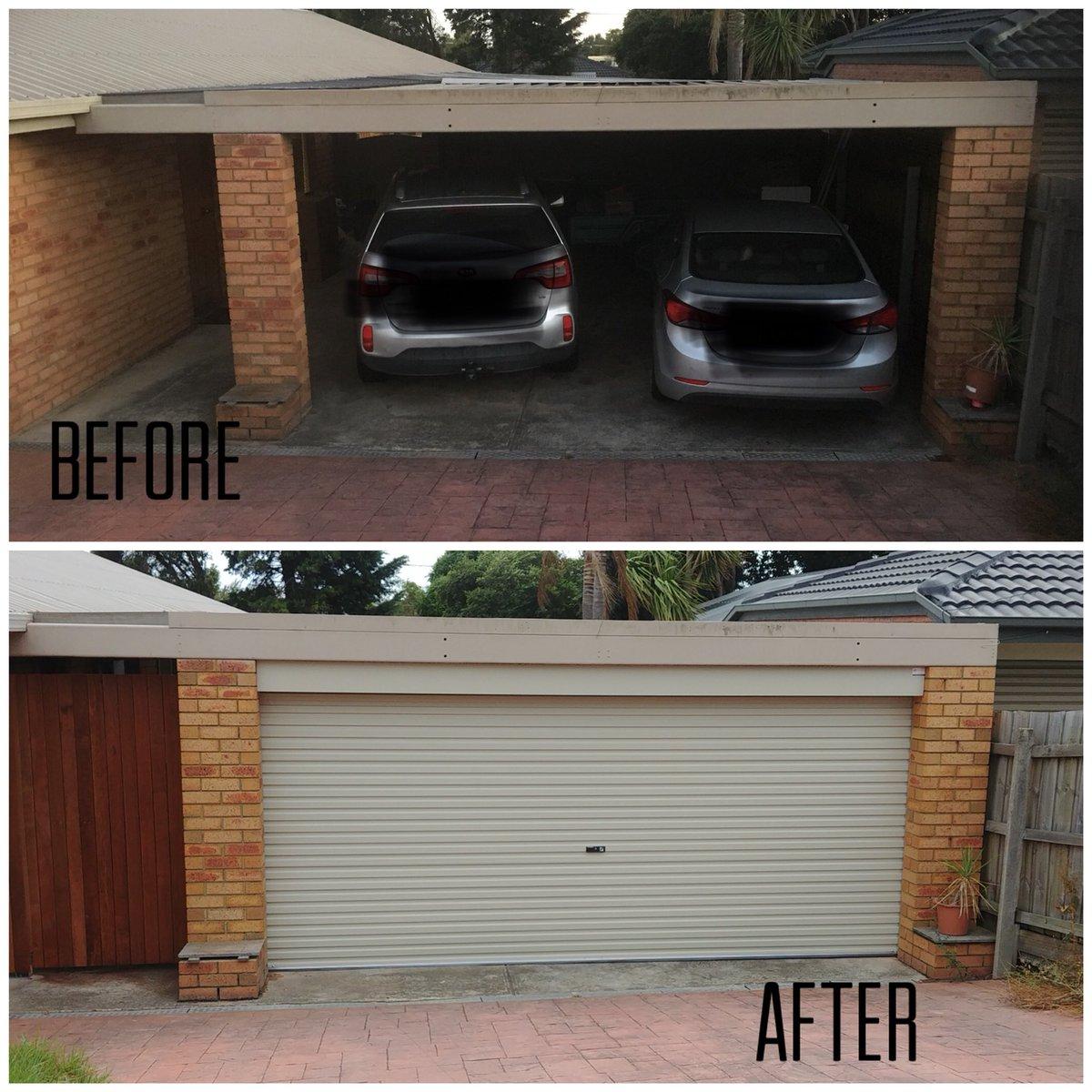 Everlift Garage Door On Twitter Transformation Carport To Garage