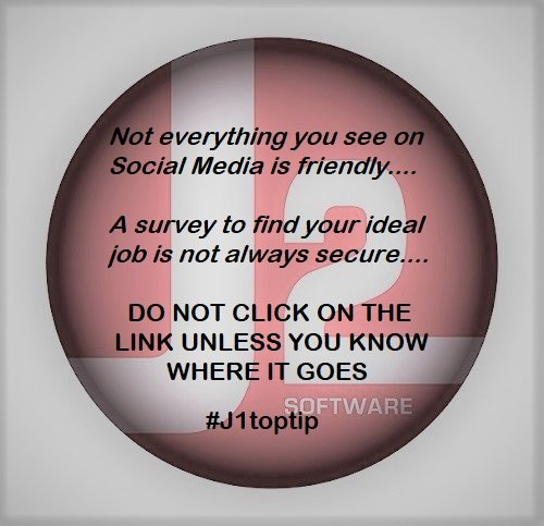 Always take care when online and working with sensitive #information. Keep yourself safe #online &amp; know what you are #clicking. #j1toptip #j2infosec<br>http://pic.twitter.com/8U96VId2W5