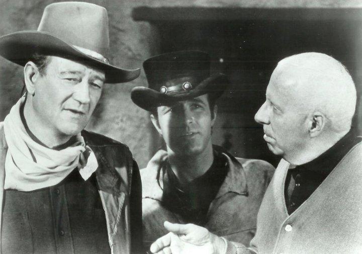 Happy 78th birthday to James Caan, seen here w/ John Wayne and Howard Hawks on the set of \El Dorado\ (1967).
