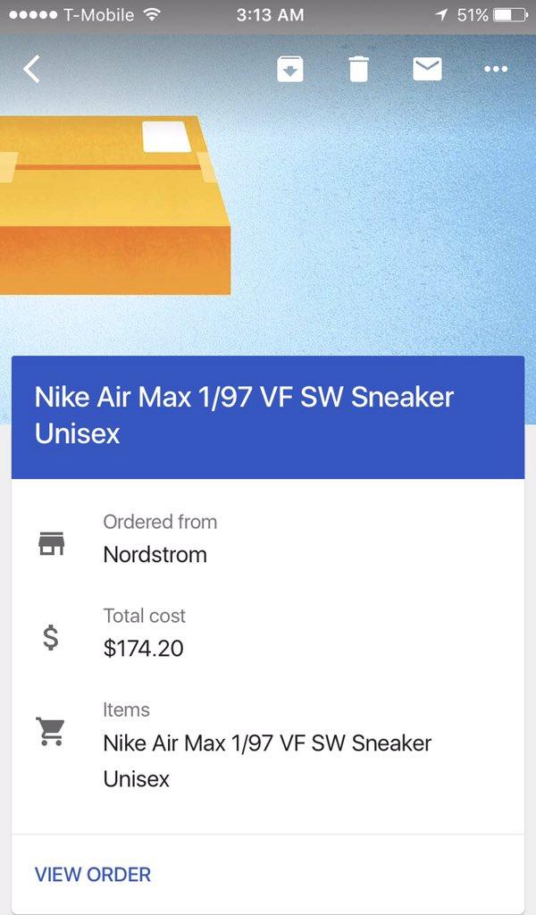 Nike Air Max 1/97 Sw Cremagliera Nordstrom 8sEQg