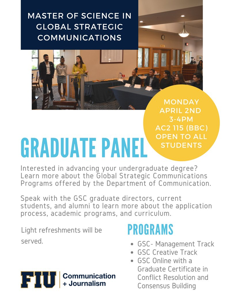 Fiucarta fiucarta twitter academic programs and curriculum for the gsc masters in fiucarta and fiusjc s gradutepanel event time 040218 at 3 pm cartacreates fiu 1betcityfo Gallery