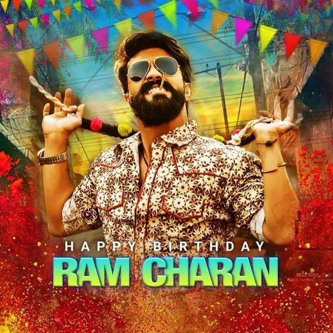 Wish you happy happy birthday to you Ram Charan garu