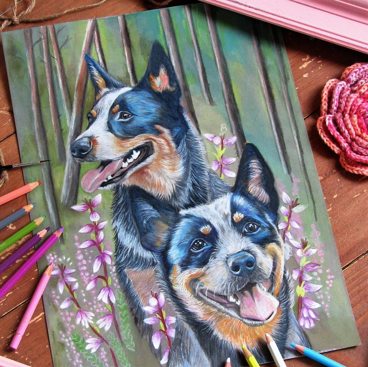 Just a couple hours work before this commission is finished. #Artlovers #ArtistOnTwitter #fineart #neverstopcreating #arttherapy #artproject #artisteverywhere #dogs #catlledog #blueheeler #commission<br>http://pic.twitter.com/QhiUSIEYy0