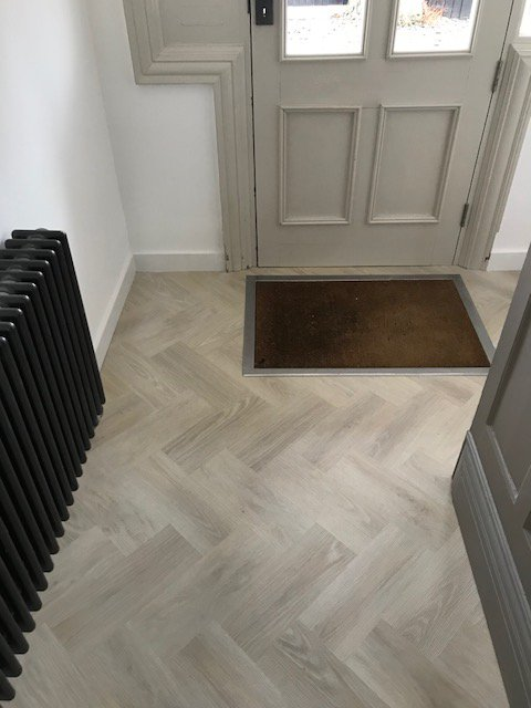 Cavalio Floors On Twitter Conceptline Nordic Ash Luxury Vinyl Tiles Cut Into A Herringbone Pattern For Home In Doncaster Installed By Fearnwood