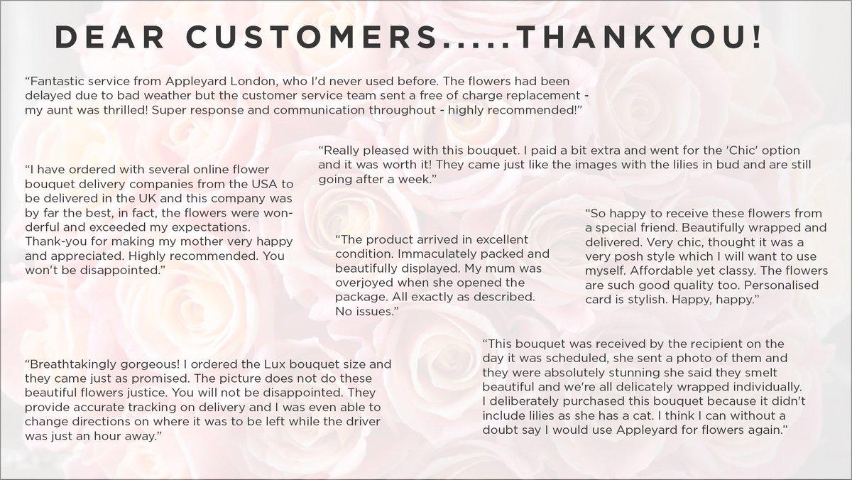 appleyard london on twitter dear customers thank you we want to