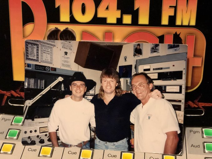 Happy 50th Birthday to Kenny Chesney. (Chesney, 104.1 s Dennis and songwriter Buddy Brock).