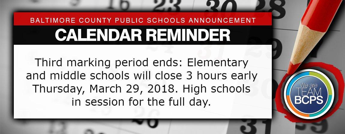 Baltimore City Schools Calendar.Baltimore County Public Schools On Twitter Calendar Reminder Our