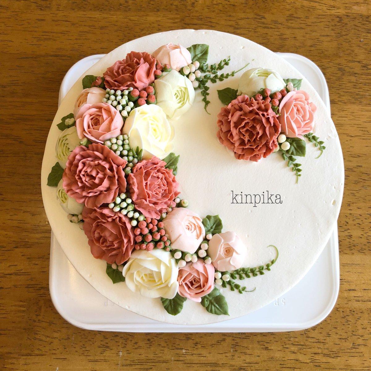母の日のケーキ、考え中。 これは前にご注文いただいたものですが やっぱり需要はカーネーションでしょうか?  悩むなー。