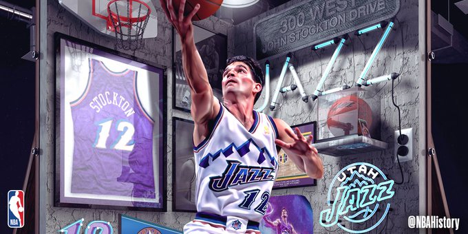 Happy 56th Birthday to the NBA s ASSISTS and STEALS king, JOHN STOCKTON!