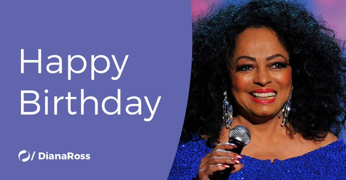 Today is Diana Ross\ birthday! Join us in wishing her a very Happy Birthday!
