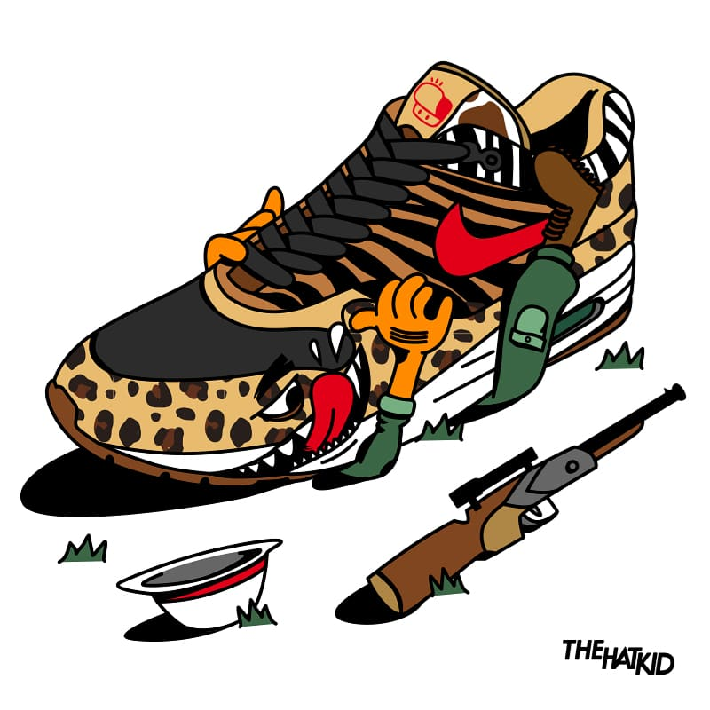nike air max 1 supreme safari x atmosfx