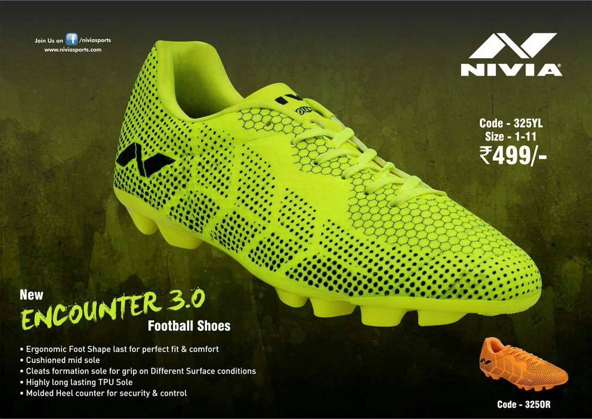 Twitter Football Encounter Nivia 0 Sports For Shoes Men 3 On