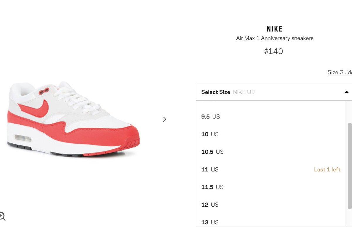 Nike Air Max 1 Anniversary Red (20172018 Restock Pair
