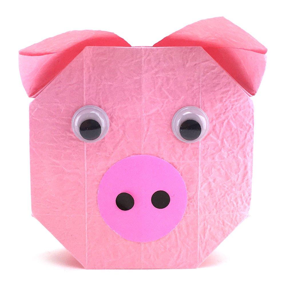 Origami Pig (face)   Origami für kinder, Origami design, Origami ...   1000x1000