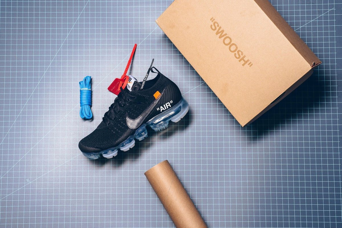 Off-White x Nike Air VaporMax Color: Black/Total Crimson-Clear Style Code:  AA3831-002 Release Date: March 30, 2018 $250>> http://sb.gl/2un7TYV ...