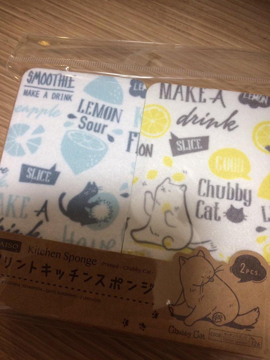 test ツイッターメディア - ダイソーで買った猫スポンジが可愛すぎる🐈💕 #ダイソー #猫 #百均 https://t.co/bE6XXg2Kq4