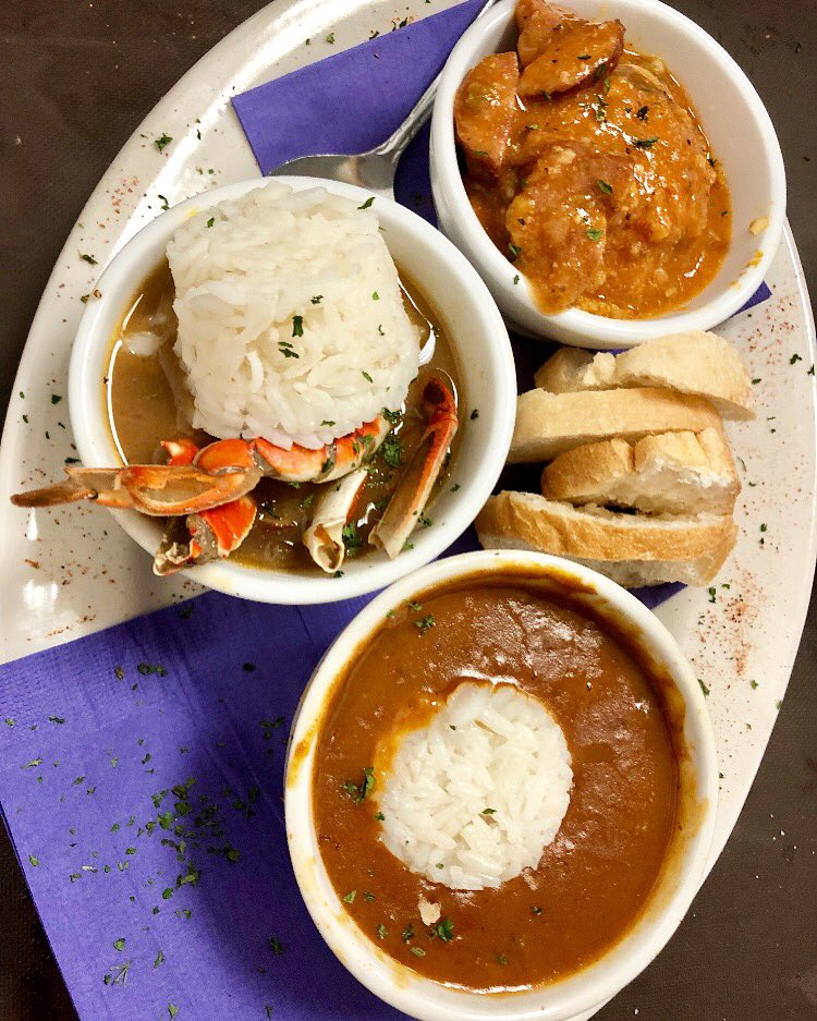 Maison Soule On Twitter New Orleans Trio With Seafood Gumbo Crawfish Etouffee And Jambalaya Followyournola Food Gumbo Etouffee Jambalaya Nola Bar Https T Co Eajzilqcjt