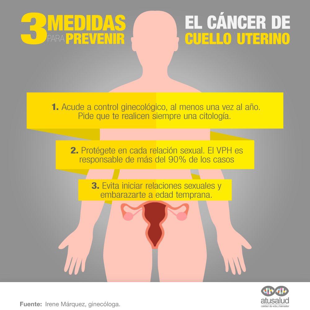 medidas prevención para el cáncer de útero