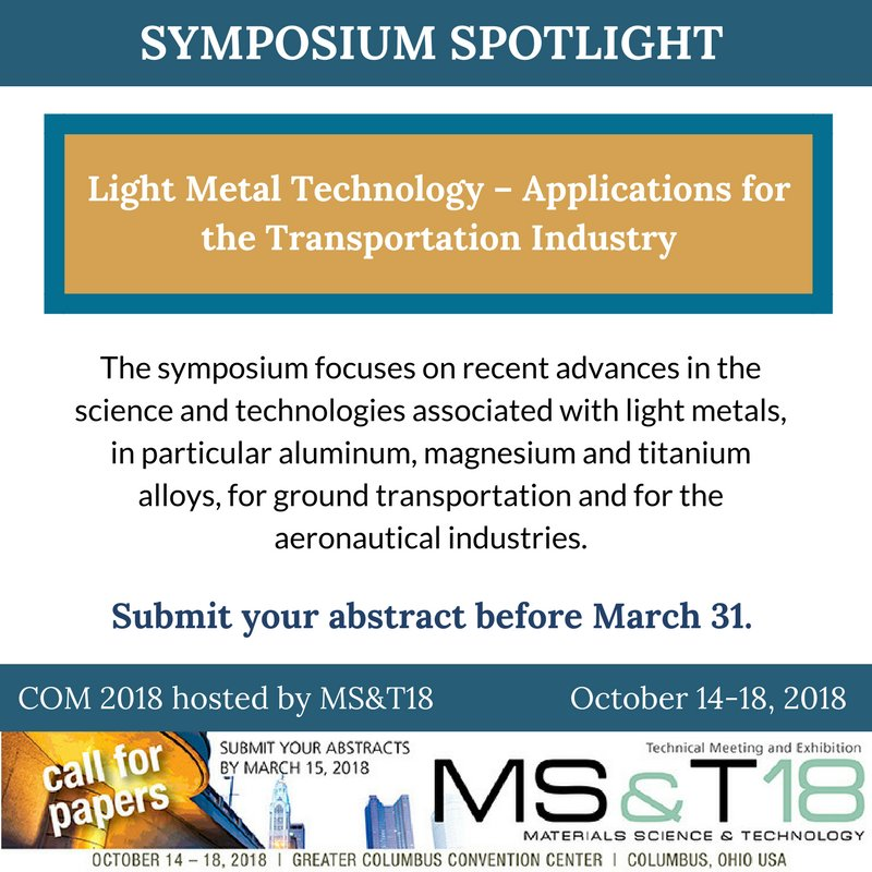 Metallurgy and Materials Society of CIM on Twitter: