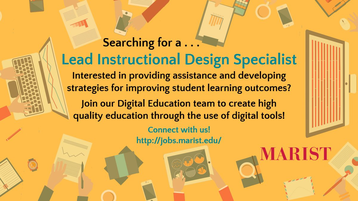 Marist Digital Ed On Twitter Do You Have A Strong Grasp Of Online Pedagogy And Digitaltechnology Then Join Our Digitaleducation Team As The Lead Instructional Design Specialist Apply Here Https T Co 7ms04igwoe Https T Co Xqmtnt1s89