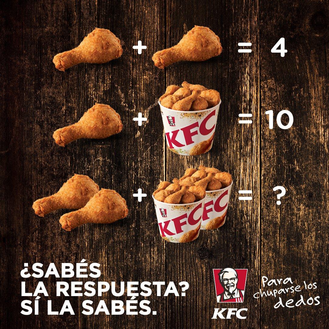 Kfc Argentina On Twitter Te Desafiamos A Resolver Esta