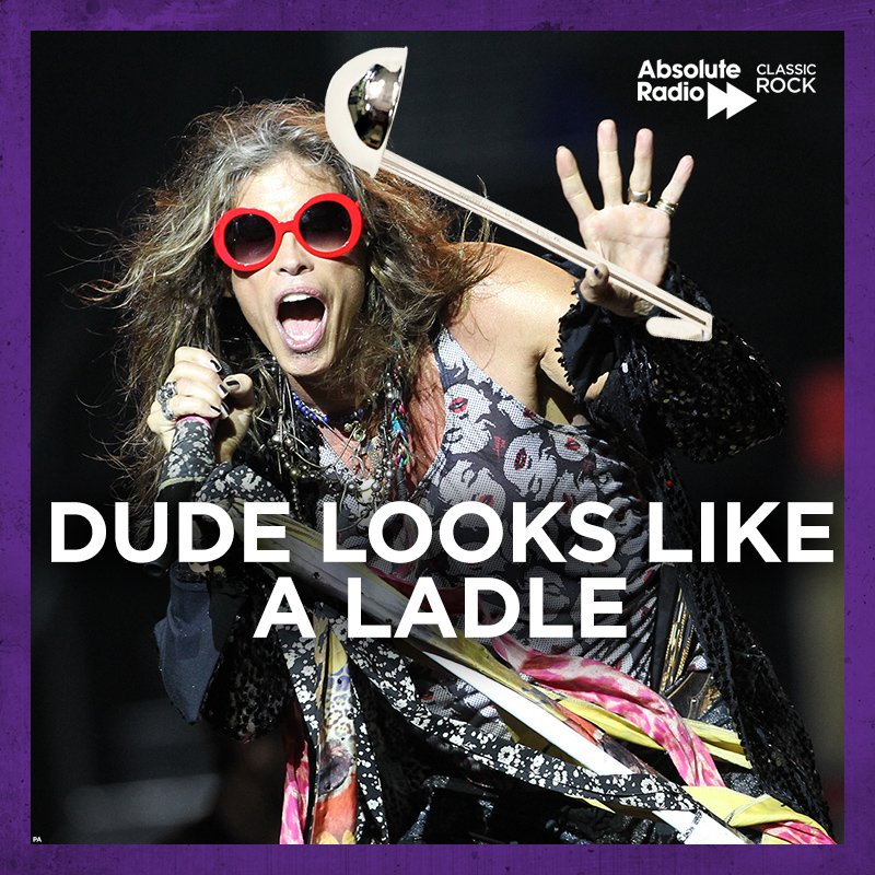 Happy birthday to Steven Tyler and his ladle.  He bloody loves that thing.