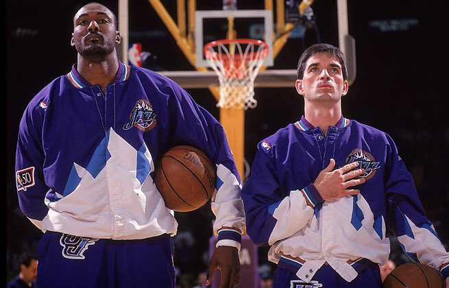 Happy Birthday to John Stockton! These Throwback warmups deserve a comeback asap