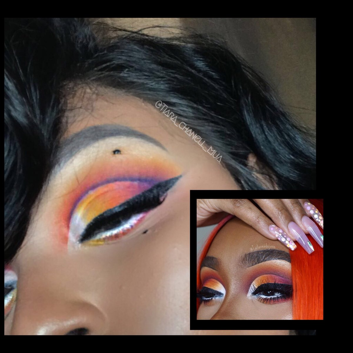 Good Morning Sweet Faces😘👋🏾 I'm crushing over this look inspired by @Tailormadejane 🤗 I can't wait to get my @plouiseacademy eyeshadow palette and eyeshadow base🙌🏾 this look was done with my @MorpheBrushes 35B palette SEE INSTAGRAM PAGE  🔥@tiara_chanell_mua🔥 FOR DETAILS