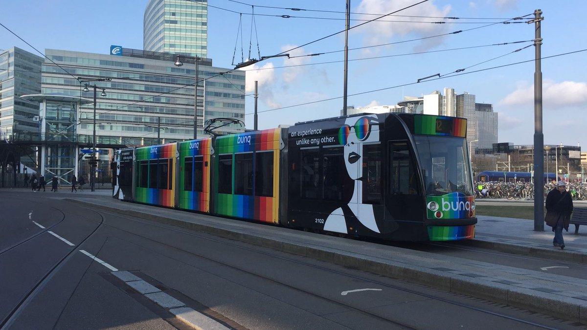 Tram met bunq reclame