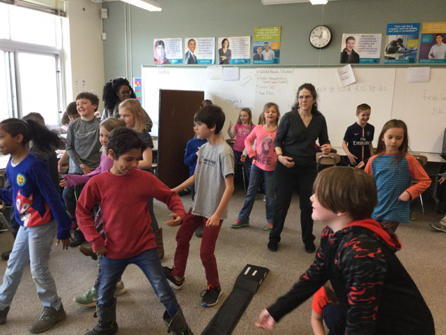 3rd grade Hawks learned some new moves from a guest dancer with the Johnson Art Museum at Cornell!