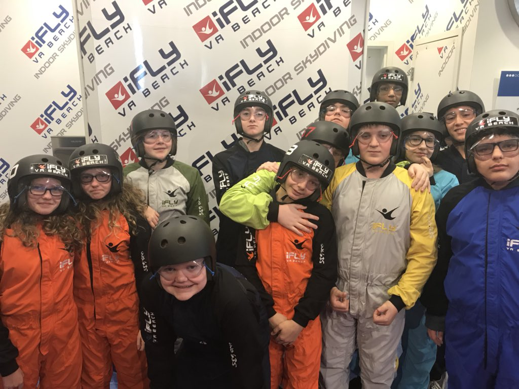 iFly fun with my 8th graders!