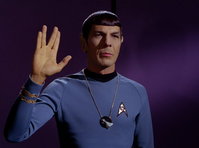 Leonard Nimoy was born 87 years ago today (3/26/1931). Happy birthday, Spock!
