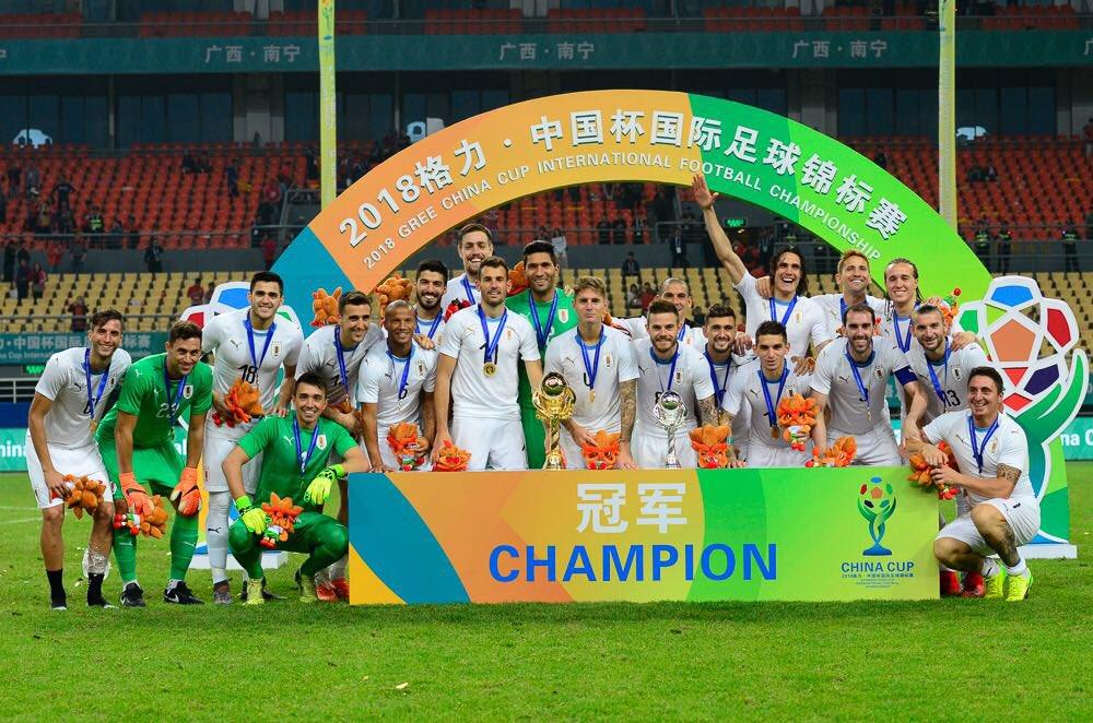 Muy feliz por el triunfo en la #ChinaCup! Lo mejor está por venir! #VamosUruguay🏆⚽🇺🇾 @Uruguay https://t.co/qio0WLP4pq