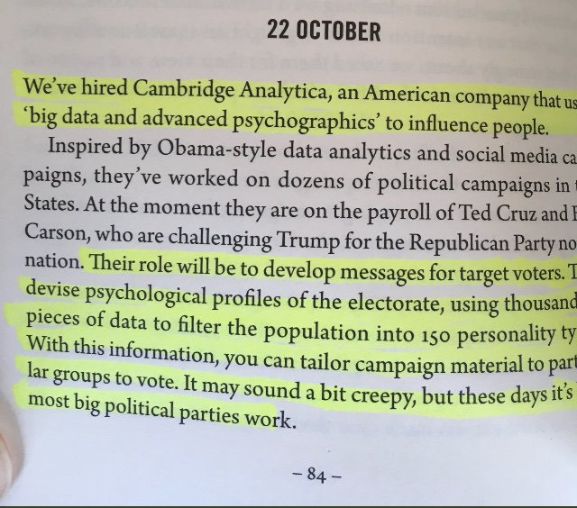 Cambridge Analytica – Politics and Insights