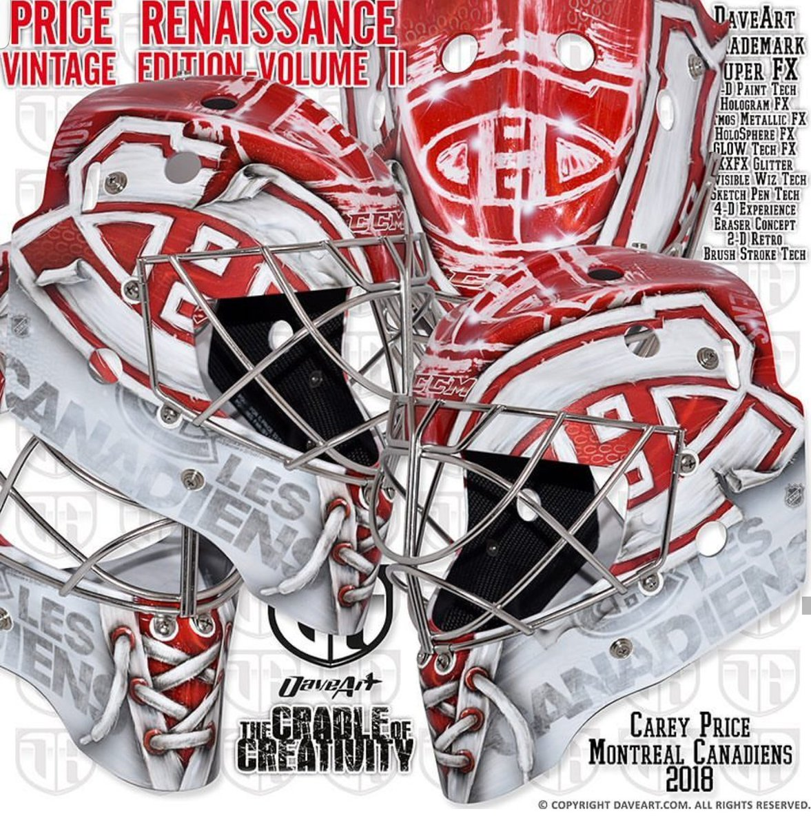 Tendy Gear On Twitter Carey Price Montreal Canadiens Ccm Mask Painted By Artofdave Maskmonday