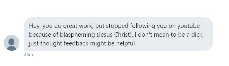 lauren rose on twitter not respecting christians edgy