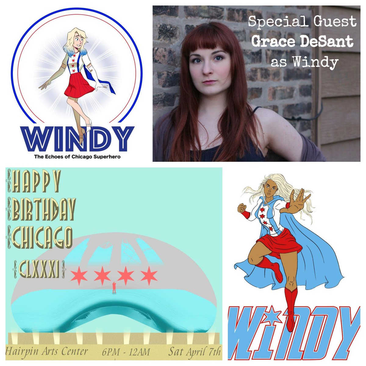 Come see @EchoesWindy at Happy Birthday Chicago at @HairpinArts on April 7th 6pm-12am! bit.ly/HBChicago18 #ChicagoArt #cosplay