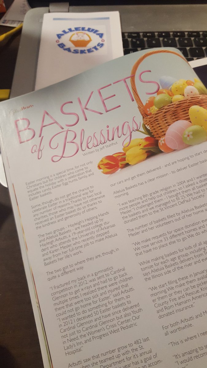 Article in StreetScape magazine Spring 2018......#children #easter #love #happiness #basketsofblessings